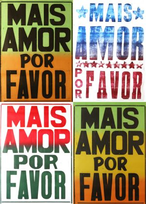 "kit x4 posters ""mais amor por favor""-0"