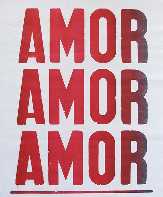 "poster ""amor amor amor"" vermelho e branco-0"