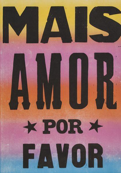 poster mais amor por favor estrelado colorido 2015-0