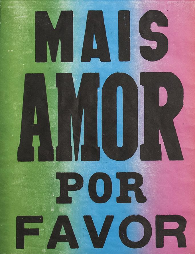 poster mais amor por favor verde azul rosa 2015-0