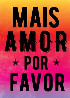 poster Mais Amor -Vermelho/Roxo- grande-0